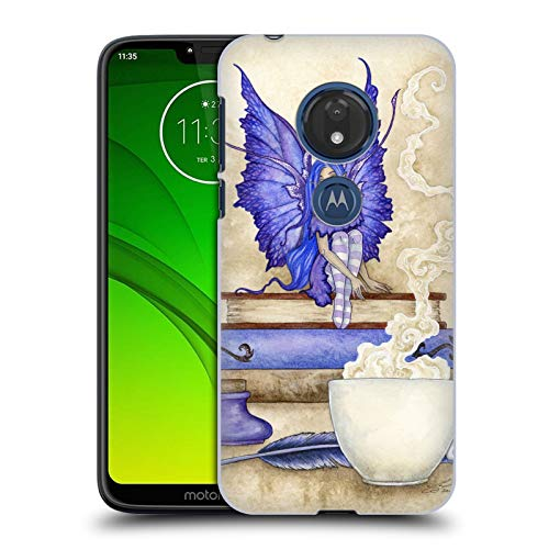 (Official Amy Brown Blue Pixie Lovely Fairies Hard Back Case Compatible for Motorola Moto G7 Play )