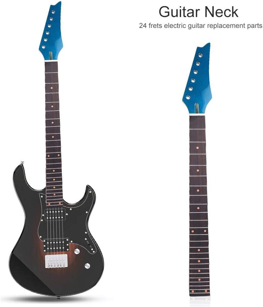 Dilwe Cuello para Guitarra Eléctrica, 24 Trastes Puntos de Marca ...
