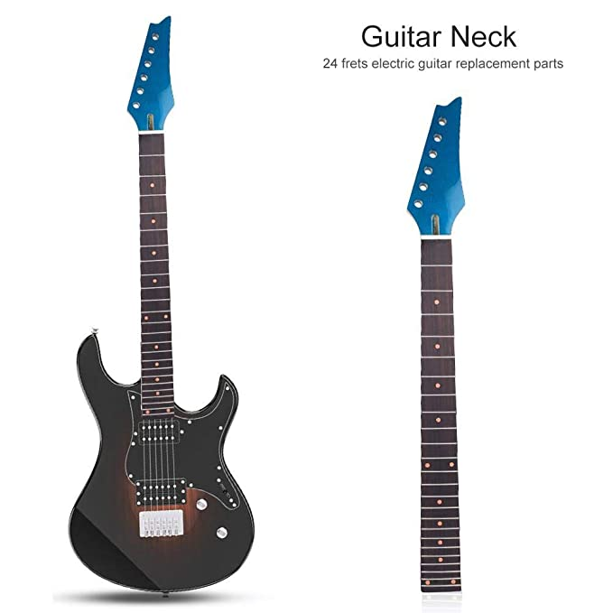 Amazon.com: Guitar Neck Replacement, 24 Frets Red Mark Dots Maple for Electric Guitars(Blue): Musical Instruments