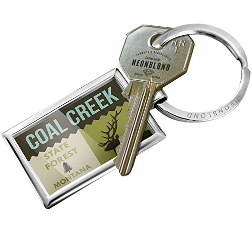 Keychain National Us Forest Coal Creek State Forest   Neonblond