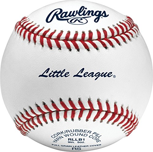 Rawlings Raised Seam Baseballs, Little League Competition Grade Baseballs, Box of 12, RLLB1 (Grade Leather Baseball)
