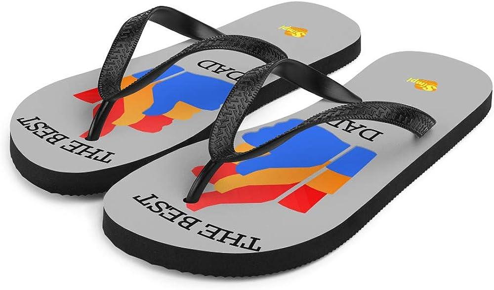 Dad Designer Flip-Flops Rubber Sole