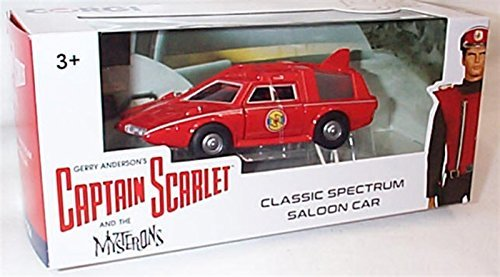 corgi Captain Scarlet and The mysterons red Classic Spectrum Saloon car 50th Anniversary 1.36 Scale diecast Model ()
