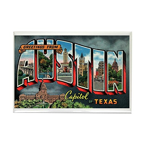 CafePress City Of Austin Postcard Rectangle Magnet, 2
