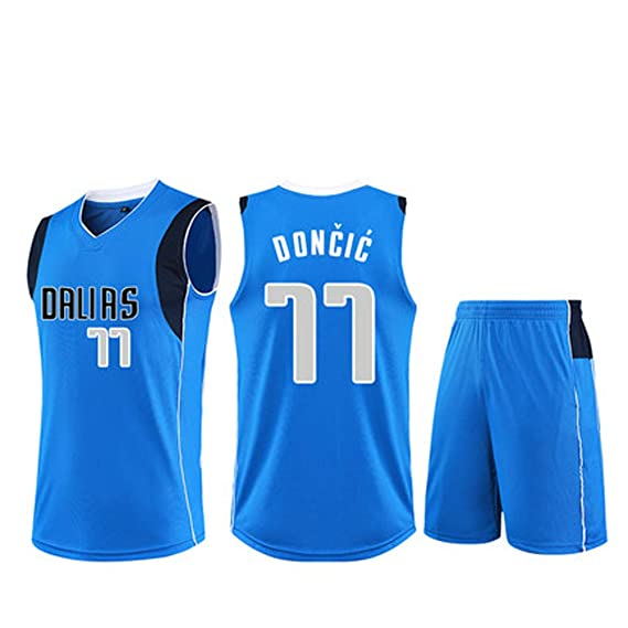 Camisetas de Baloncesto para Hombres de Dallas Mavericks # 77 Luka ...