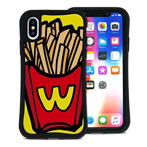 WAYLLY(ウェイリー) iPhone X ケース iPhone XS ケース アイフォンXケース アイフォンXSケース くっつくケース 着せ替え 耐衝撃 Qi対応 米軍MIL規格 [ポップフード ポテト] MK