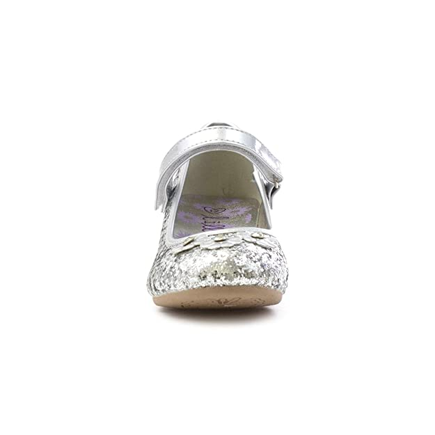 e7b98da81fa2 Lilley Sparkle Girls Silver Easy Fasten Party Shoe  Amazon.co.uk  Shoes    Bags