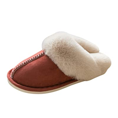 JOYFEEL Womens Slipper Memory Foam Fluffy Soft Warm Slip On House Slippers Anti-Skid Cozy Plush Indoor Shoes Winter: Clothing