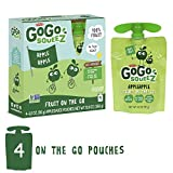 GoGo squeeZ Applesauce on the Go, Apple Apple, 3.2 Ounce (4 Pouches), Gluten Free, Vegan Friendly, Healthy Snacks, Unsweetened Applesauce, Recloseable, BPA Free Pouches
