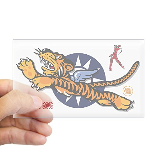 Nose Bumper (CafePress - Flying Tigers - Decorated Nose Sticker (Rectangle) - Rectangle Bumper Sticker Car Decal)