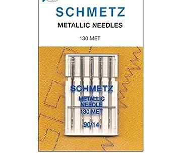 Premium Quality Schmetz Metallic Sewing Machine Needles 5 Pack 130 MET 80//12