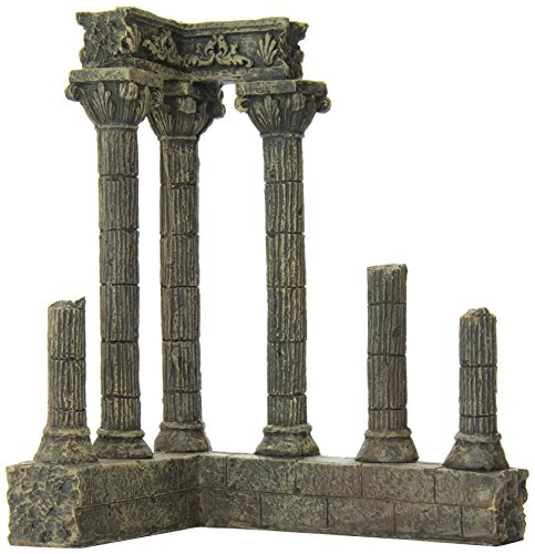 SPORN Aquarium Decoration, Corner (Column Ruins Aquarium Ornament)