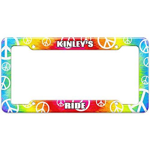 tie-dye-hippie-license-plate-frame-ride-names-female-ke-ki-kinley