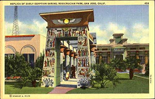Replica Of Early Egyptian Shrine, Rosicrucian Park San Jose, California Original Vintage Postcard