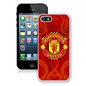 Beautiful Designed Case With Manchester United 6 White For iPhone 5S Phone Case