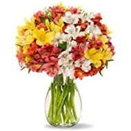 Benchmark Bouquets Assorted Peruvian Lilies, With Vase