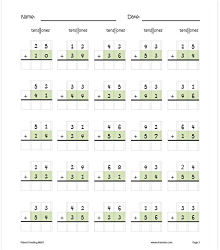 Math Worksheets 3rd grade free math worksheets : Amazon.com : Channie's One Page A Day Double Digit Math Problem ...