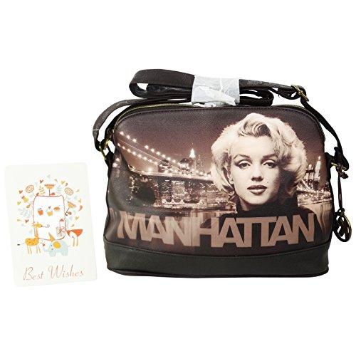 Marilyn Manhattan Borsa da Donna Borsa a Tracolla a Spalla Viaggio