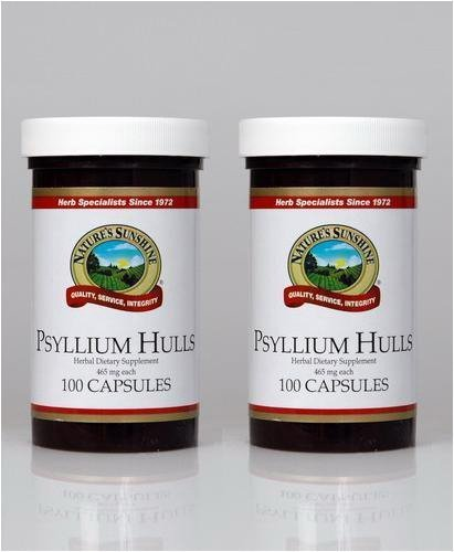 Naturessunshine Psyllium Hulls Digestive System Support 465 mg 100 Capsules (Pack of 2) by Nature's Sunshine