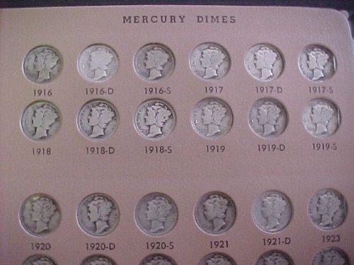 1916-1945 P,D,S w/o 1916-D Mercury Dime (1916 D Mercury Dime)