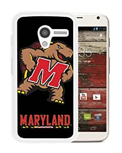 Personalization NCAA Atlantic Coast Conference ACC Footballl Maryland Terrapins 1 White Case For Motorola Moto X Phone Case Cool Design