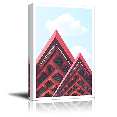 wall26 Canvas Wall Art - Building of China Pavilion of Shanghai Expo - Giclee Print Gallery Wrap Modern Home Decor Ready to Hang - 24