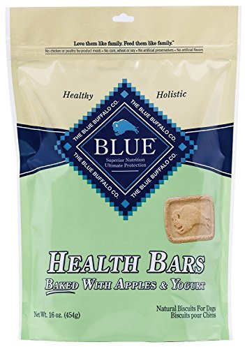 (Blue Buffalo Health Bars for Dogs, Apple Yogurt, 16-Ounce Bag(2Pack) )