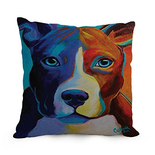 Dog Art Pillow Cases 18 X 18 Inches / 45 By 45 Cm Gift Or Decor For Floor,kitchen,divan,her,living Room,kids Room - Double Sides (Cake Decorating Quilt compare prices)