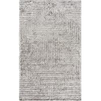 Surya QTZ5000-810 Quartz Area Rug, 8 x 10, Light Gray/Charcoal