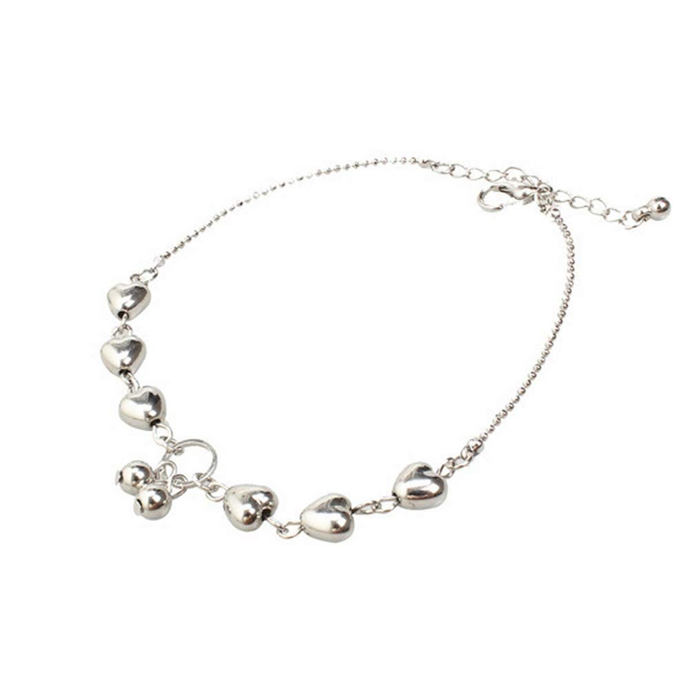 Color: Silver Naomi Womens Fashion Silver Plated Cherry Pendant Bracelet+Anklets