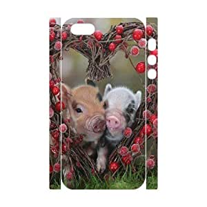 Cool Painting Pig Brand New 3D Cover Case for Iphone 5,5S,diy case cover case698849