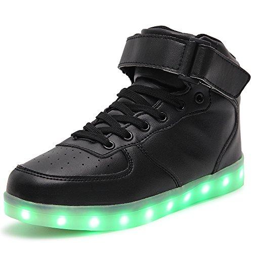 Occhiali Idea Di Punta Unisex Caricabatterie Usb Led Sneakers Alte Nero