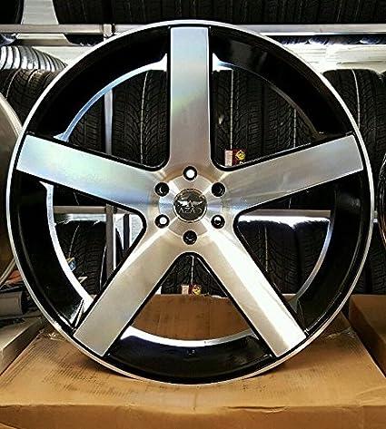 Amazon Com 28 Inch Azad 5198 Bm Wheels Tires Fit Chevy Gmc