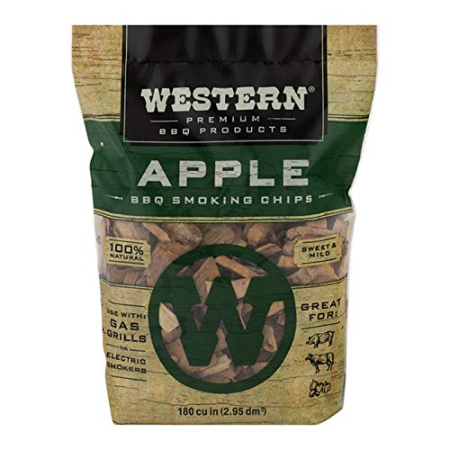 Western Premium BBQ Products Apple Smoking Chips, 180 cu inch