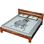 Ringabell Artia Solid Wood Queen Size Bed Without Storage (Teak Finish)