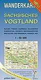 Wanderkarte Sächsisches Vogtland: Mit Plauen, Treuen, Auerbach, Falkenstein, Klingenthal, Oelsnitz, Markneukirchen, Bad Elster, Bad Brambach, Hranice, ... Maßstab 1:50.000. (Wanderkarten 1:50.000)