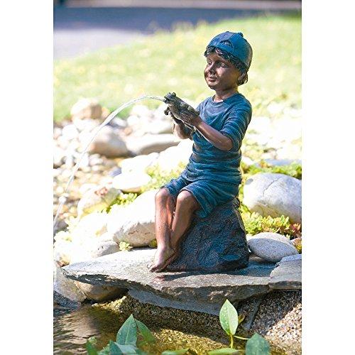 45cm Heissner Gartenartikel Lucas con la Figura Frog Pond