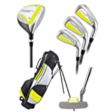 Young Gun PRO YELLOW RH Junior golf club set and bag (for player heights 36″ to 42″ RH), Outdoor Stuffs