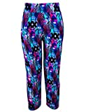 OVERMAL Women Seamless Imitation Skinny Flower Print Stretchy High Waist Fitness Yoga Sport Pants Leggings (ASIA XL, Purple) For Sale