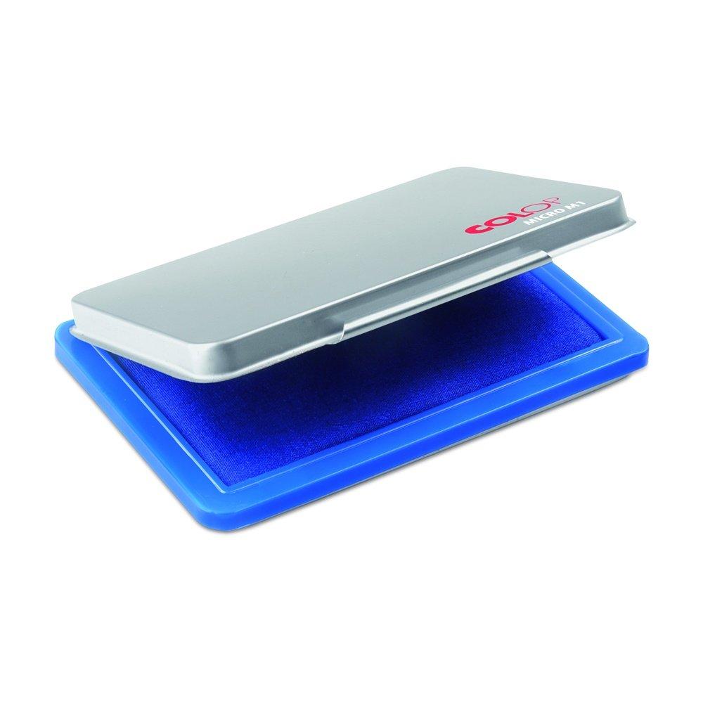 Colop 137864 tampone Micro M1 con corpo in metallo, 50 X 90 mm, Blu 50X 90mm
