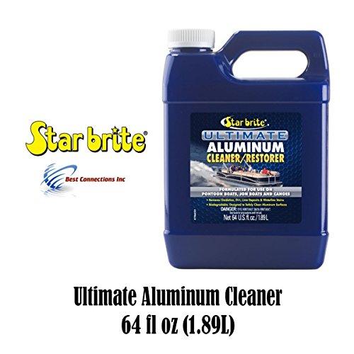 Aluminum Pontoon (Starbrite Aluminum Cleaner Restorer 64 fl oz 87764 Pontoon Boat Canoe Cleaning)