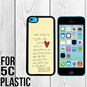 Bible Verse Proverbs 3-6 Custom made Case/Cover/skin FOR iPhone 5c -Black - Snap On Plastic Case