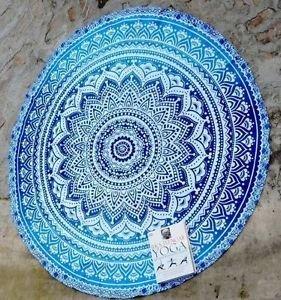 Indisch Mandala Yoga Tuch Rund Wandbehang Yoga Teppich Boho Stranddecke Picknick