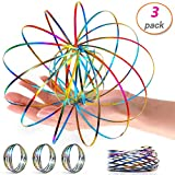 3 Pack Flow Ring Arm Magic Spring Arm Flow Rings Sculpture Ring Game Toy Colored Magic Kinetic Spring Interactive Stress Relief Toy Festival Accessories