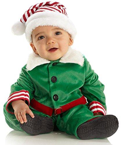 Underwraps Costumes Baby Boy's Elf Boy, Green/White/Red, Medium (18-24 Months) (Elf Costumes For Babies)