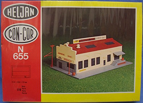 Con-Cor/Heljan 655 The Graphic Press N Scale Plastic Model Structure Kit