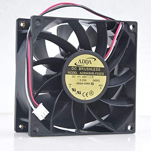 NEW FOR ADDA 9CM 48V 0.25A 9238 9038 AD0948HB-F93DS Converter Server cooling Fan 4400RPM 100CFM