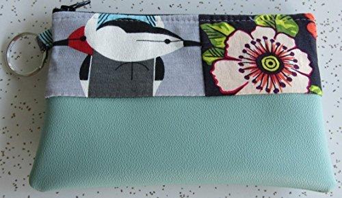 Wallet - Charley Harper Bird Clutch - Sea Foam Wallet by Pear