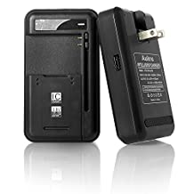 Aukru USB Spare Battery Travel Charger Dock for Samsung Galaxy S3 S4 i9300 i9500 Note 3 N9000/Note 2 N7100/Nokia/Motorola/HTC Smartphones