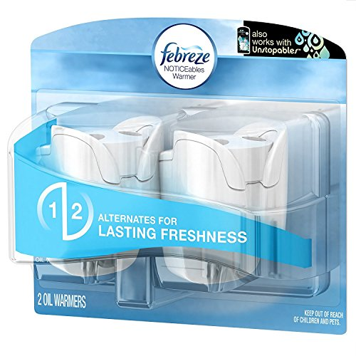 Febreze Air Freshener, Noticeables Air Freshener, Dual Scented Oil Warmer, 1 Pack of - Oil Scented Dual